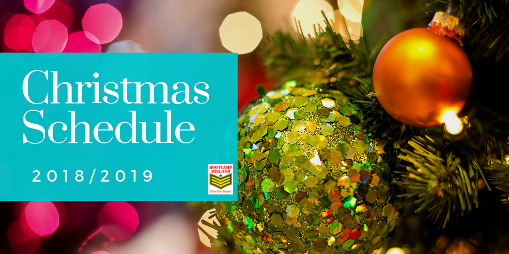 Christmas Schedule 2018 & Free Classes